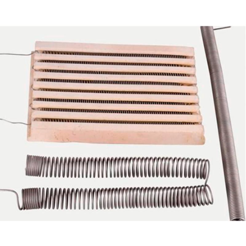 Resistencias en espiral de alambre montadas en electrodos de cerámica