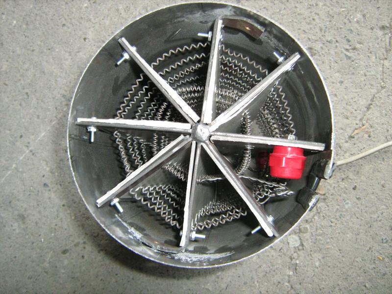 Resistencias en espiral de alambre para secadores industriales.